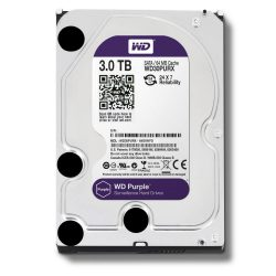 WD HDD Purple 3TB 3.5″ SATA 3/ 64MB Cache/ IntelliPower (5400RPM-5900RPM) (Màu tím)