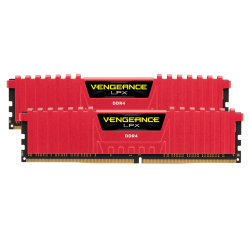 CORSAIR VENGEANCE LPX DDR4 16GB (2X8GB) 2666Mhz RED (CMK16GX4M2A2666C16R)