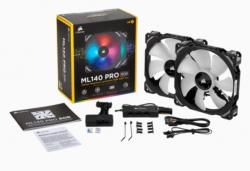 Quạt Case Corsair ML140 RGB Kit 2FAN + Lighting Node PRO