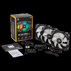 Quạt Case Corsair ML120 RGB Kit 3FAN + Lighting Node PRO (CO-9050076-WW)