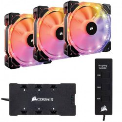 Quạt Case Corsair FAN HD 120 RGB LED – Hộp 3 FAN – with controller (CO-9050067-WW)
