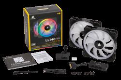 Quạt Case Corsair LL140 RGB Doulble Pack + Lighting (CO-9050074-WW)