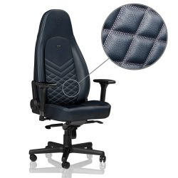 ICON – REAL LEATHER – MIDNIGHT BLUE/GRAPHITE