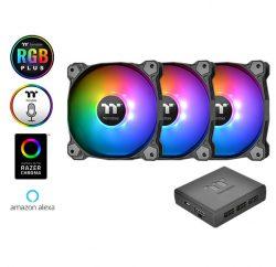 Combo 3 Quạt Làm Mát Thermaltake Pure Plus 12 RGB + hub