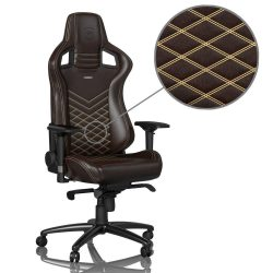 Ghế Noble Chair EPIC – REAL LEATHER – BROWNBEIGE