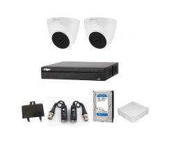 Trọn bộ camera Dahua 2.0Mp 2 mắt trong nhà