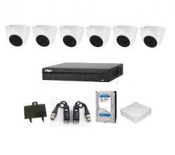 Trọn bộ camera Dahua 2.0Mp 6 mắt trong nhà