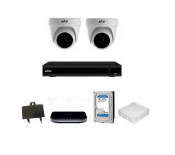 Trọn bộ Camera Hiviz IP 2.0Mp 2 mắt (dome)