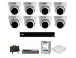 Trọn bộ Camera Hiviz IP 2.0Mp 8 mắt (dome)