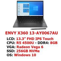 Laptop HP Envy x360 Convertible 13-ay0067AU (171N1PA) (13.3″ Touch/R5 4500U/8GB RAM/256GB SSD/Win10/Đen)