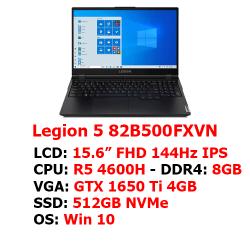LAPTOP LENOVO LEGION 5 15IMH05 (82B500FXVN) (15.6″ IPS 144Hz 100% sRGB/Ryzen 5 4600H/8GB/512GB NVMe/ GTX1650Ti 4GB/Key RGB/ WIN 10 )