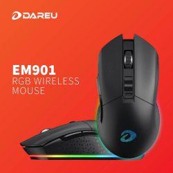 Chuột Không Dây Dare-U EM901 Black RGB