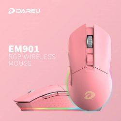 Chuột Không Dây Dare-U EM901 Pink RGB