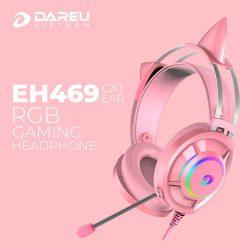 Tai nghe DAREU EH469 QUEEN RGB (Kèm CAT EARS)