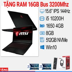 LAPTOP GAMING MSI GF63 THIN 10SC 014VN (V)