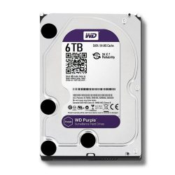 Ổ cứng WD HDD Purple 6TB 3.5″ SATA 3/ 64MB Cache/ IntelliPower (5400RPM) (Màu tím)