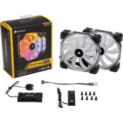 Quạt Case Corsair FAN HD 140 RGB LED – Hộp 2 FAN – with controller (CO-9050069-WW)