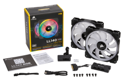 Quạt Case Corsair LL140 RGB Doulble Pack + Lighting (CO-9050074-WW)