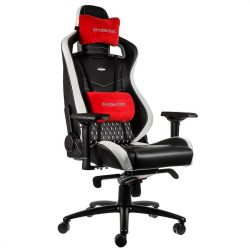 Ghế Nobble Chair EPIC – REAL LEATHER – BLACK/WHITE/RED