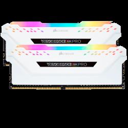 CORSAIR VENGEANCE RGB PRO 16GB (2x8GB) 3200MHz WHITE (CMW16GX4M2C3200C16W)