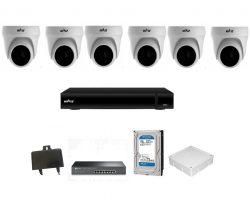 Trọn bộ Camera Hiviz IP 2.0Mp 6 mắt (dome)